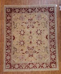 #L00708 100% PURE WOOL INDIAN RUG SIZE 8'X10'