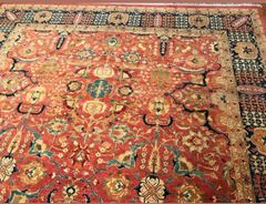 #1007 HANDWOVEN FINE 100% PURE WOOL RUG SIZE 9'X12'