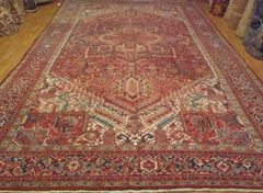 #L00513 ANTIQUE HANDWOVEN PERSIAN HERIZE RUG SIZE 10'X16'
