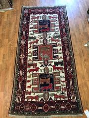 ANTIQUE HANDWOVEN MERRAKESH RUG SIZE 3'X6'5""