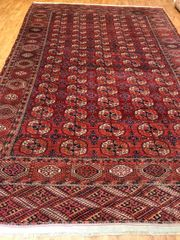 ANTIQUE HANDWOVEN AFGHAN TURKMAN SIZE 8'X12'