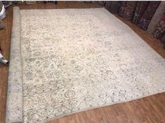 Decorative soft colors 100% pure wool Handwoven Peraian Tabriz rug size 14'x20'