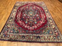 Antique handwoven Persian Saruke size 4'x7'