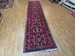 "#1122 S/ANTIQUE HANDWOVEN AUTHENTIC 100% PURE WOOL PERSIAN HERIZ RUG SIZE 2'8""x12'6"""