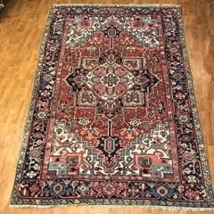 ANTIQUE HANDWOVEN PERSIAN HERIZE RUG SIZE 8'X11'