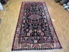 "#1107 Antique handwoven Persian Faraghan rug size 4'10""x9'5"""