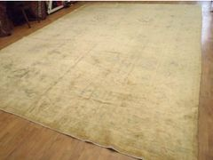 #L00545 Light colored antique handwoven Persian Tabriz size 11'x14' circa 1930s