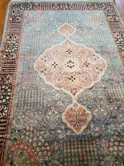 #5005 HANDWOVEN PERSIAN TABRIZE 100% SILK PILE RUG SIZE 6'X9'