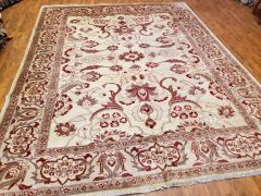 #ABA100 DECORATIVE 100% PURE WOOL AGRA RUG SIZE 8'X10'