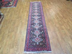 "#1126 S/ANTIQUE HANDWOVEN AUTHENTIC 100% PURE WOOL PERSIAN HERIZ RUG SIZE 1'9""X8'"