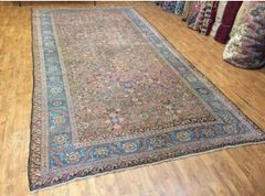 Antique handwoven Persian Bakhshayesh size 7'x14' circa 1900