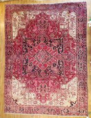#L00703 S/ANTIQUE HANDWOVEN PERSIAN HERIZ RUG SIZE 10'X13'