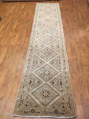 "#L00522 ANTIQUE HANDWOVEN PERSIAN RUNNER SIZE 2'4""X10'"