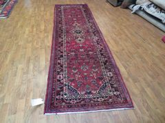 "#1119 S/ANTIQUE HANDWOVEN AUTHENTIC 100% PURE WOOL PERSIAN HERIZ RUNNER SIZE 2'11""x10'"