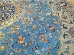 Antique handwoven Persian Tabriz rug size 10'x13' circa 1920s
