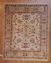 #L00711 HANDWOVEN 100% PURE WOOL INDIAN AGRA RUG SIZE 8'X10'