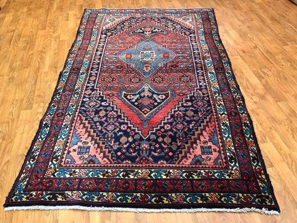 S00162 Antique Handwoven Persian Bidjar Size 4 X6 Baseer Oriental