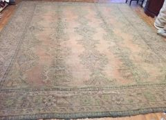 Antique Handwoven Turkish Oushak rug size 11'x14' circa 1920s