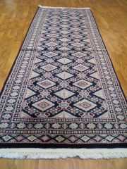 "#1123 HANDWOVEN 100% PURE WOOL TURKMAN RUG SIZE 2'7""x6'2"""