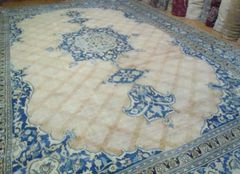#L00510 ANTIQUE HANDWOVEN PERSIAN KHORASSAN SIZE 13'X19'