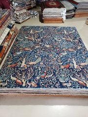 #1021 Decorative handwoven Birds of paradise rug size 9'x12' 100% pure wool