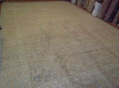 #L00506 Light gold & blue antique handwoven Persian TABRIZ size 12'X18' circa 1930s