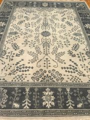 HANDWOVEN OUSHAK DESIGN INDIAN RUG SIZE 6'X9' NEW