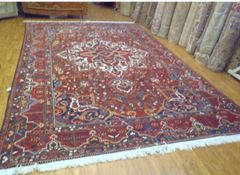 Decorative 100% pure wool Handwoven Persian Bakhtiary rug size 10'x15'