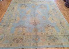 Antique look 100% pure wool handwoven Turkish Oushak size 8'x10'