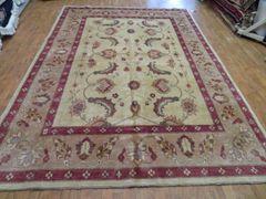 "#1138 Decorative handwoven Afghan chobi design size 7'5""x10'4"""
