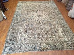 #L00547 100% pure wool pile Antique handwoven Persian Heriz rug size 9'x13'