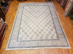 #1018 DECORATIVE HANDWOVEN 100% PURE WOOL KHOTAN RUG SIZE 9'x12'