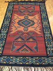OLD HAND WOVEN TURKISH KILIM RUG SIZE 5'X8'
