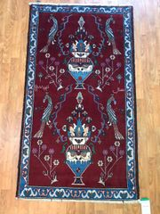 ANTIQUE HANDWOVEN PERSIAN TABRIZ SIZE 3'X6'
