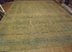 #L00499 Antique fine quality Persian Tabriz size 11'x15' circa 1900 soft colors