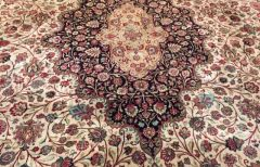100% pure Silk fondation Silk pile Persian QUM size 13'x21' one of a kind