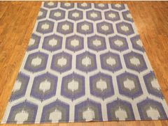Decorative handwoven designer flat rug size 5'x8' NEW