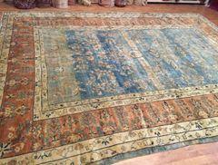 Antique Hand woven Persian Saruke mahajeran size 10'x13'