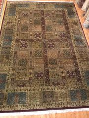 #L00467 100% pure Handwoven Indian rug size 10'x14'