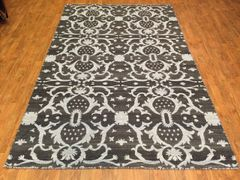 HANDWOVEN DECORATIVE INDIAN FLAT WEAVE RUG SIZE 5'x8'