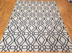 DECORATIVE DESIGNER FLAT WEAVE RUG SIZE 5'X8' NEW
