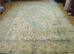 Antique handwoven Persian Tabriz rug size 10'x13' circa 1930s