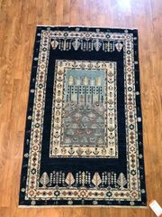 HANDWOVEN 100% PURE WOOL PICTURE RUG SIZE 3'x5'