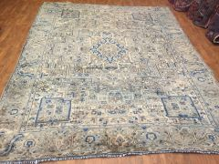 ANTIQUE LOOK HANDWOVEN PERSIAN RUG SIZE 8'X10' LIGHT COLORS