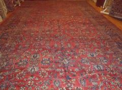 #L00515 Large antique handwoven Persian Saruke size 12'x22'