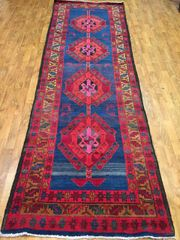 "#L00520 SEMI ANTIQUE PERSIAN HERIZE RUNNER SIZE 3'4""X10'5"""