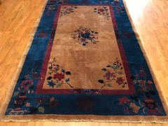 ANTIQUE HANDWOVEN Art Deco CHINESE RUG SIZE 5'X8'