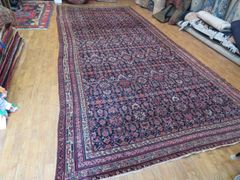 #1128ANTIQUE HANDWOVEN AUTHENTIC PERSIAN FARAGHAN RUG SIZE 4'X7'