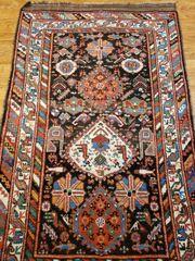 #6005 ANTIQUE HANDWOVEN PERSIAN KURDISH 100% WOOL RUG SIZE 4'X6'