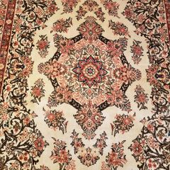 #5017 HANDWOVEN PERSIAN ISFAHAN 100% PURE WOOL RUG SIZE 5'X7'